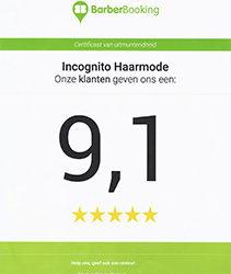Een 9,1 voor Incognito Haarmode
